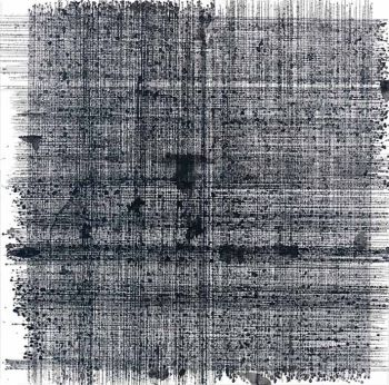 Method: Ink on paper.   Dimensions: 77 x 77 cms.