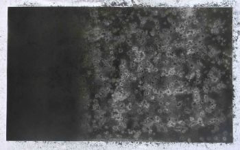 Soot and dry cold water on paper.
